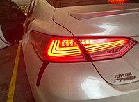 Задние фонари на Camry V70 2018- Lexus style Красный оттенок, фото 1