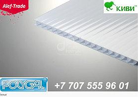 POLYGAL серии КИВИ, 10 мм (2,1х6 метров) Поликарбонат сотовый Белый Поликарбонат сотовый
