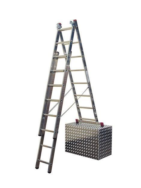 Универсальная лестница с доп. функцией 3х11 пер. KRAUSE CORDA