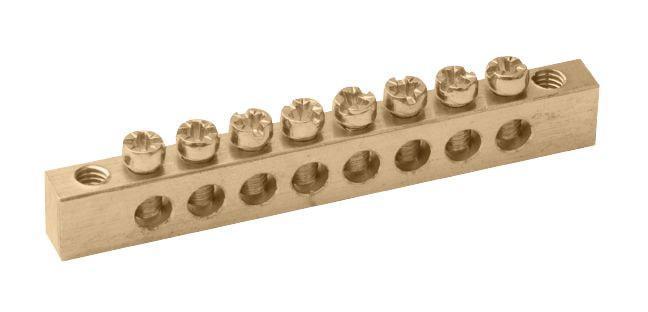 "Шина ""N"" нулевая 4х7 групп на DIN-рейку в корпусе"