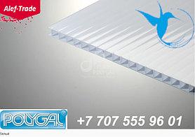 POLYGAL серии КОЛИБРИ, 6 мм (2,1х6 метров) Поликарбонат сотовый Белый Поликарбонат сотовый (полигаль)