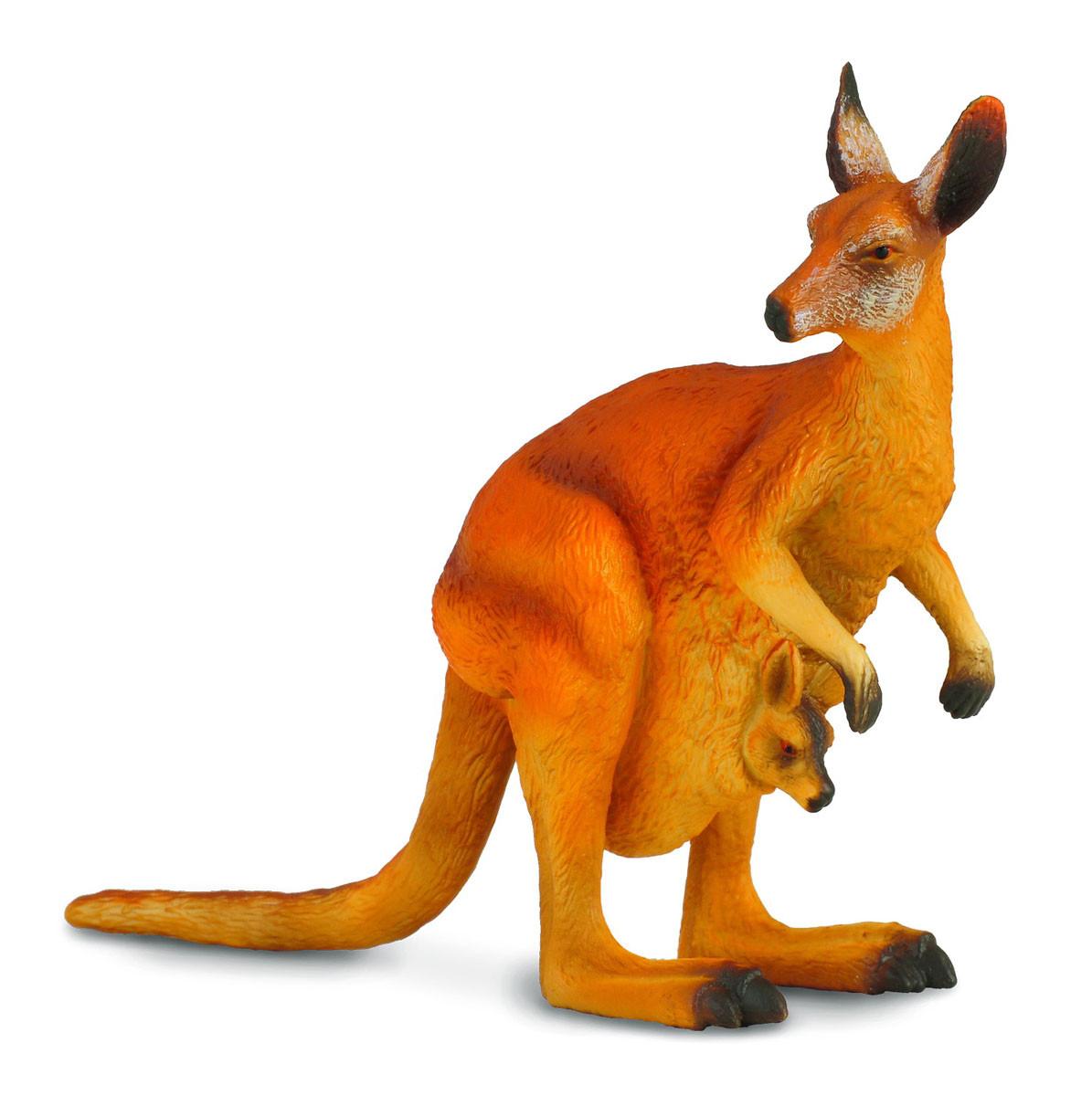 Collecta Фигурка Большой рыжий кенгуру, высота 13 см