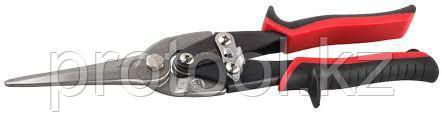 ЗУБР Ножницы по металлу, прямые удлинённые, Cr-Mo, 290 мм, серия Профессионал