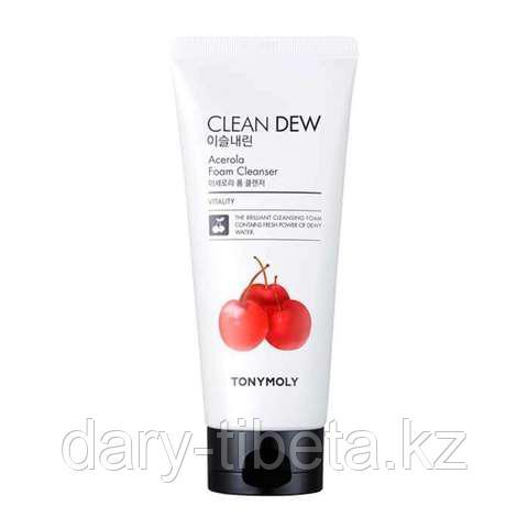 Tony Moly Clean Dew Acerola Foam Cleanser-Пенка с экстрактом ацеролы для очищения кожи лица