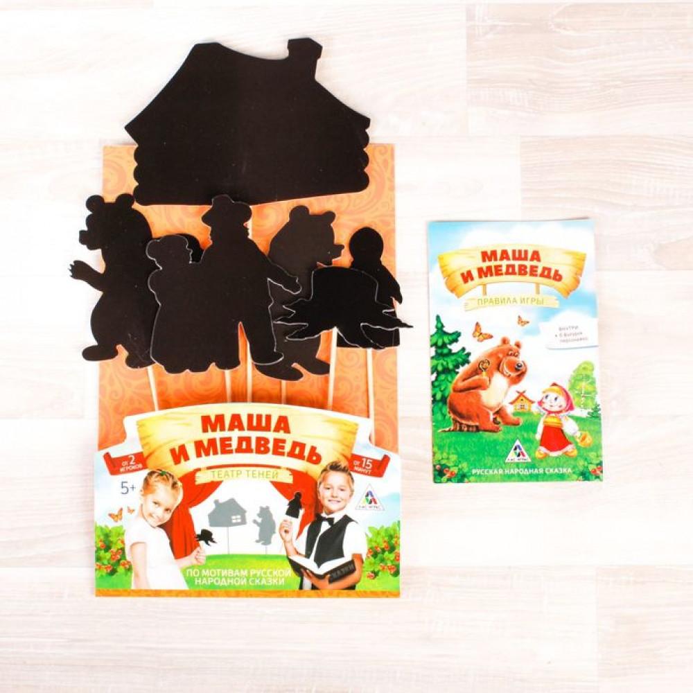 """Детский театр теней """"Маша и медведь"""", 6 персонажей"""
