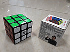 Кубик Рубика 3 на 3 Moyu Weilong в черном пластике, фото 2