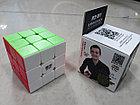 Кубик Рубика 3 на 3 Qiyi Cube в черном пластике, фото 6