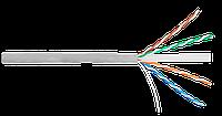 Кабель UTP 4 пары Кат.6 медный 0,55мм, внутренний, PVC, серый, 305м