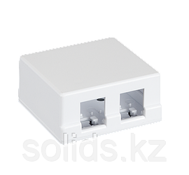 Корпус настенной розетки под 2 модуля Keystone10 шт