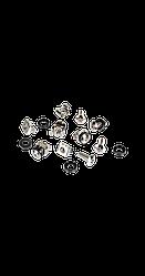 Крепежный комплект TLK (винт, шайба, гайка) уп-ка 50шт