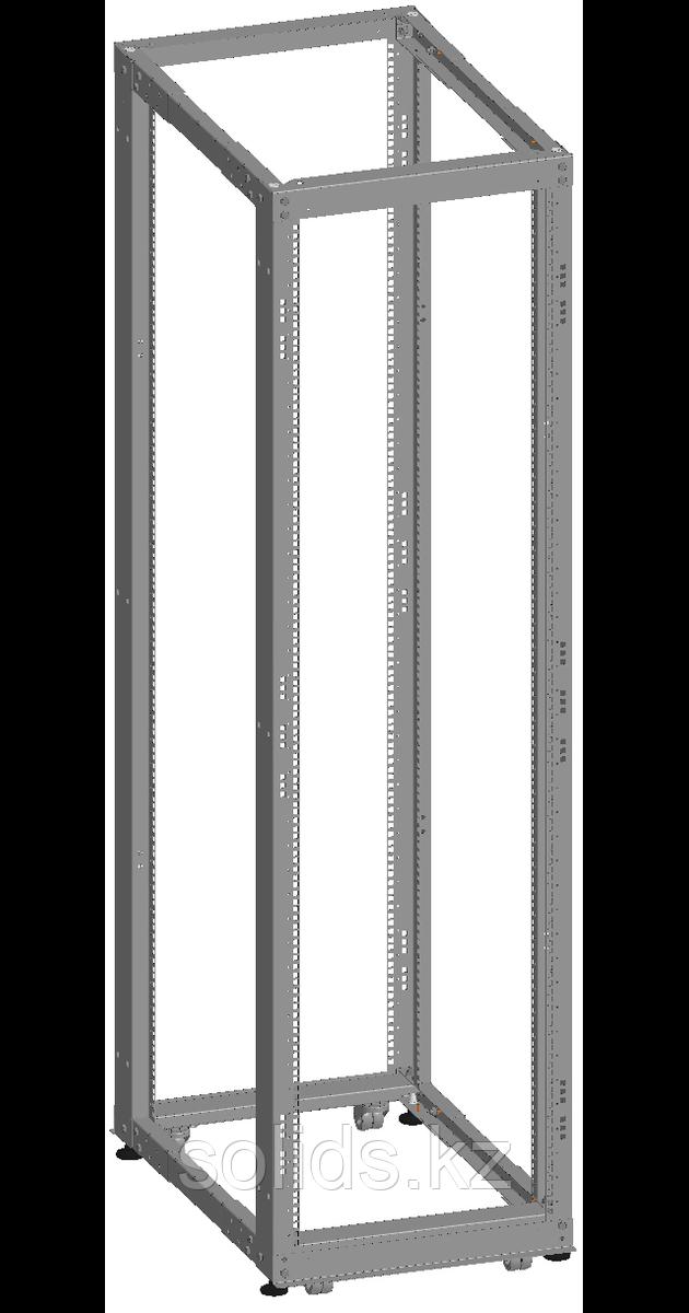 Монтажная стойка двухрамная раздвижная 24U Г(600-1000) мм в разобранном виде