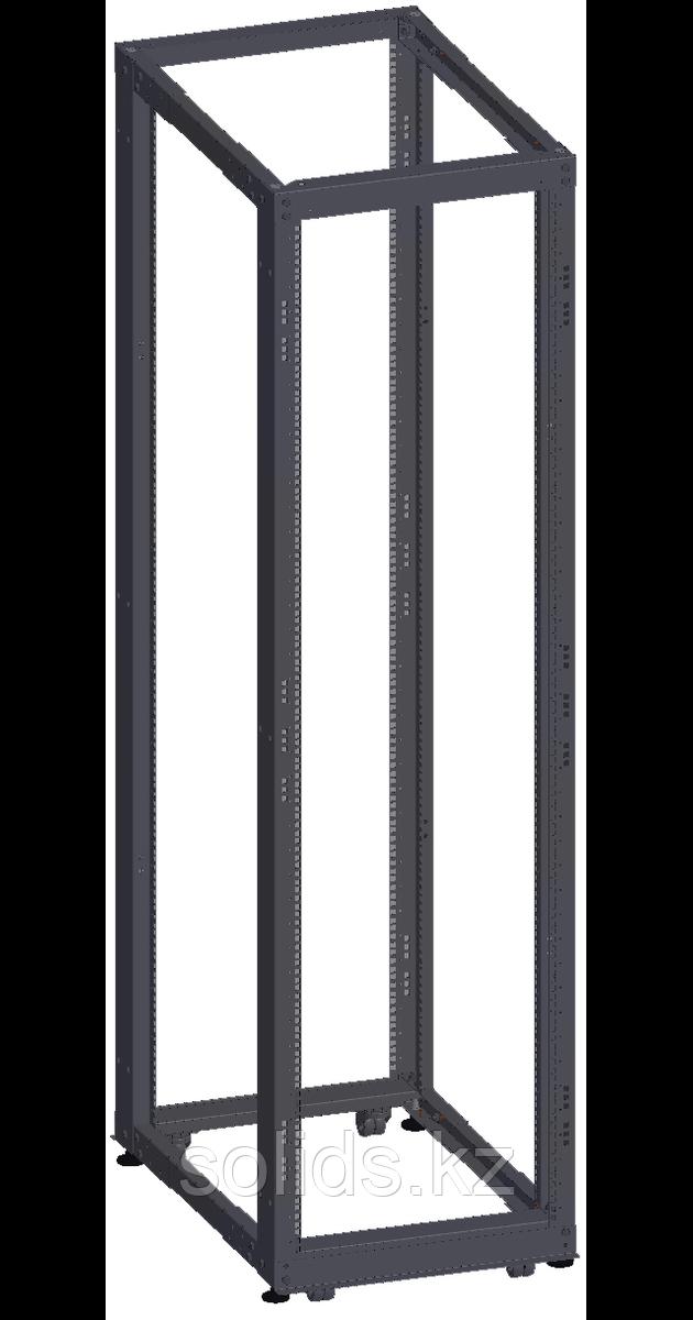 Монтажная стойка двухрамная раздвижная 42U Г(600-1000) мм, в разобранном виде