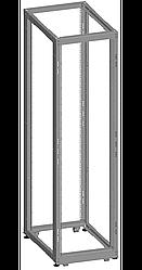 Монтажная стойка двухрамная раздвижная 42U, Г(600-1000) мм, в разобранном виде