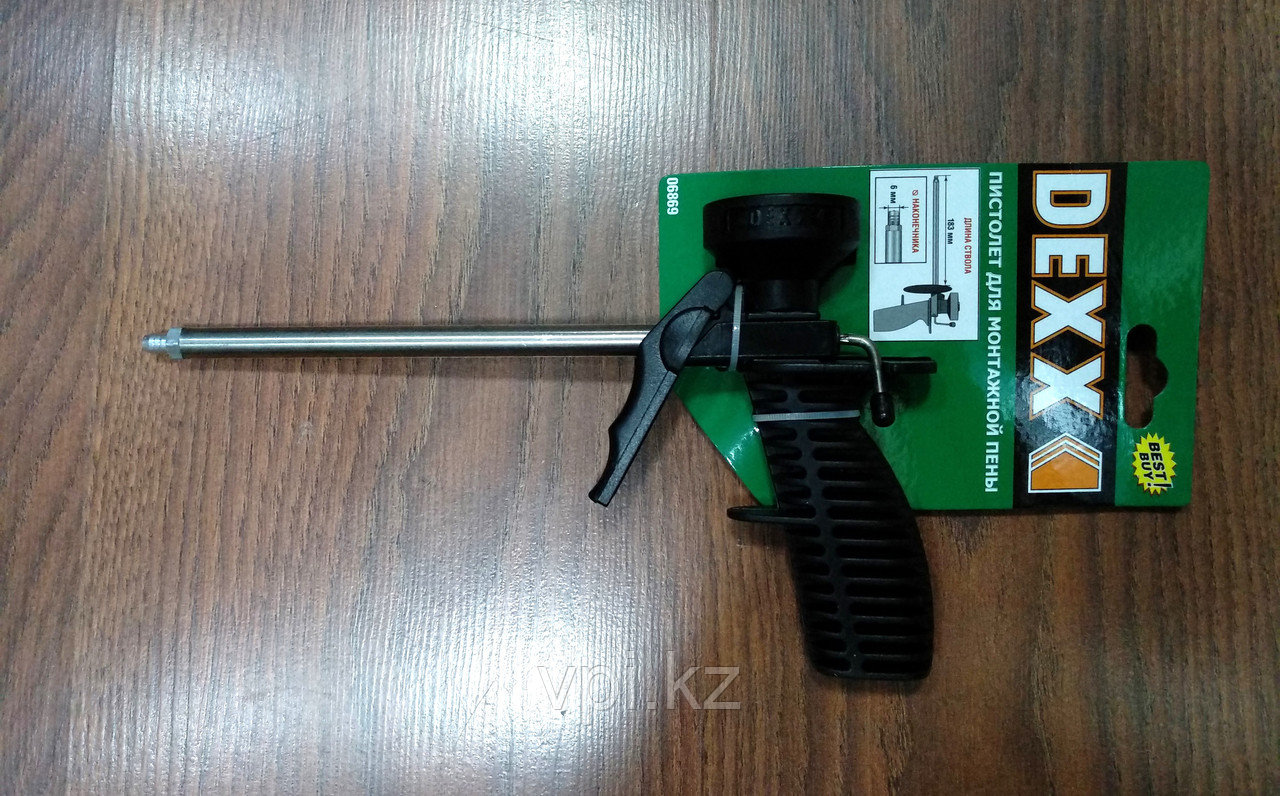 Пистолет для монтажной пены, 6*183мм.  DEXX