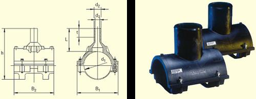 Электросварные фитинги SA-XL d500/250 SDR11