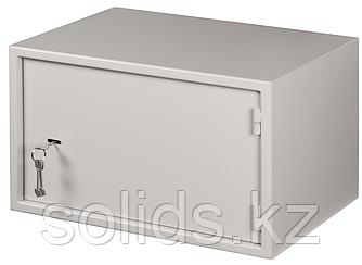 Настенный антивандальный шкаф с дверью на петлях 7U Ш520хВ320хГ400мм