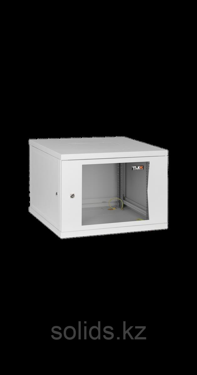 Настенный разборный шкаф  6U стекло 600х350