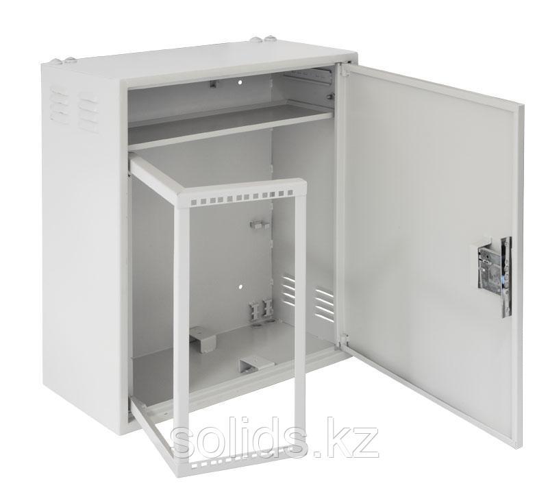 Настенный шкаф с поворотной рамой и полкой 4U