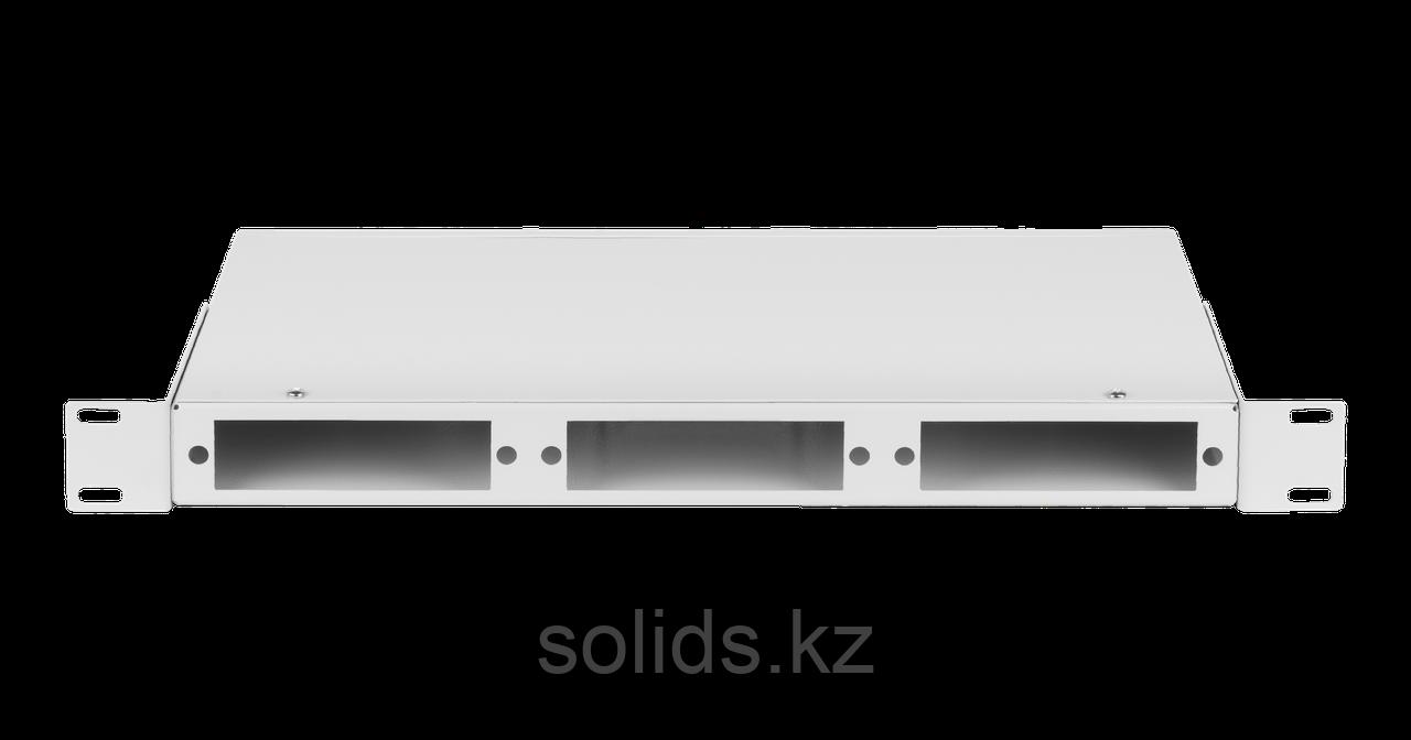 Оптический кросс 1U  до 24 SC/FC портов или 48 LC портов неукомплектованный