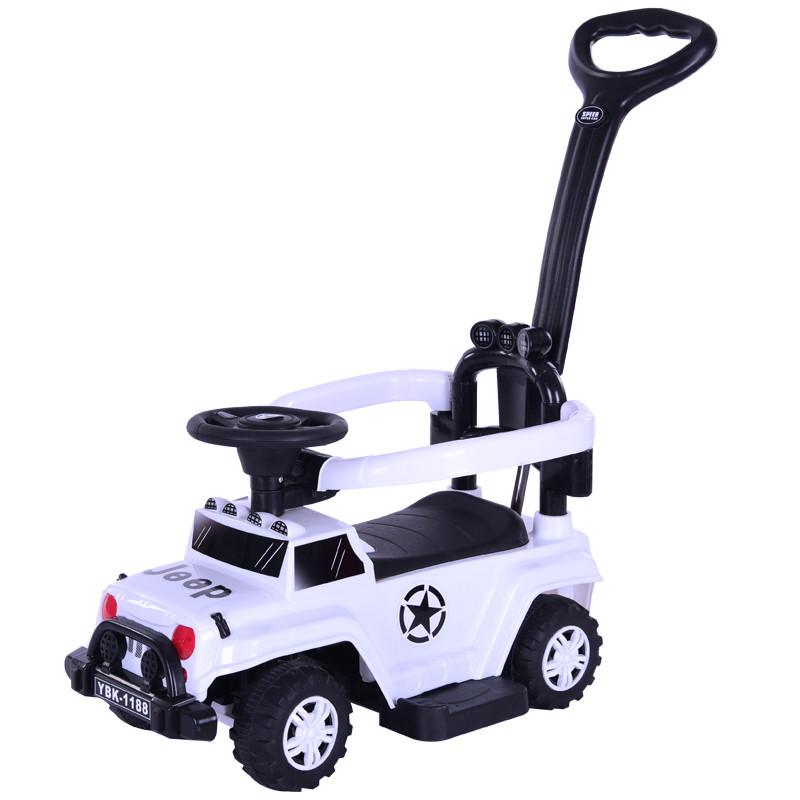 Толокар-каталка Jeep Wrangler WPH1688, 3 в 1, белый