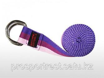 Ремешок для йоги 182 см, трехцветный