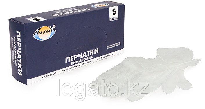 Перчатки виниловые неопудр. Aviora Размер S 100шт/упак 10уп/кор