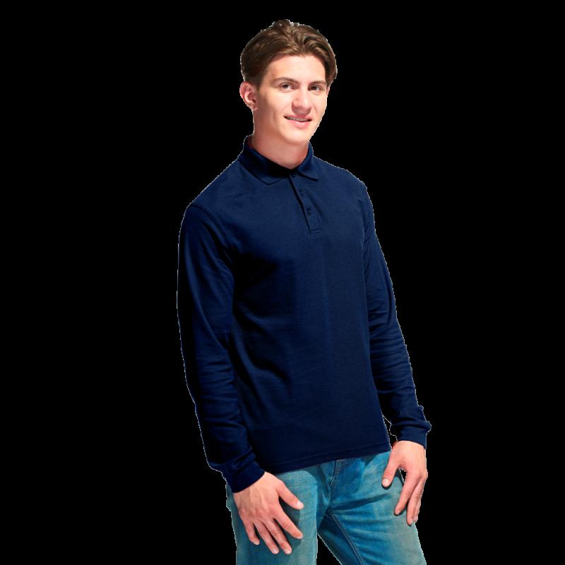 Рубашка поло с длинным рукавом, StanPolo, 04S, Тёмно-синий (46), XS/44