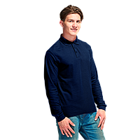 Рубашка поло с длинным рукавом, StanPolo, 04S, Тёмно-синий (46), XXXL/56