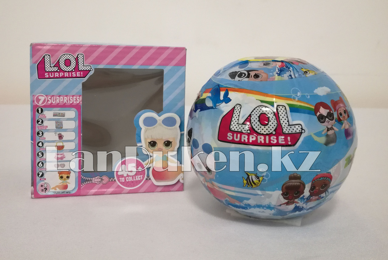 Кукла-сюрприз в шарике LOL Surprise! русалка (голубая) - фото 3