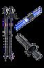 Палка для скандинавской ходьбы телескопическая, 3-х секционная, 135 см , фото 2