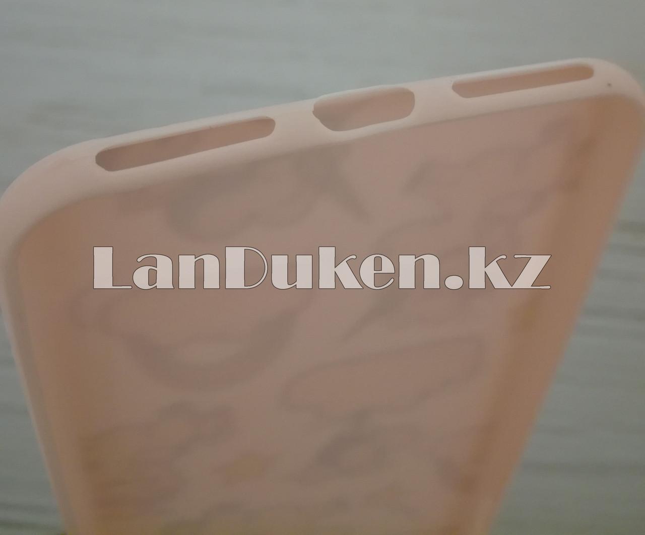 Чехол для смартфона гелевый IPHONE 7P/8P розовый единорог и шарики - фото 5