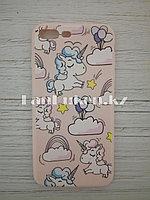Чехол для смартфона гелевый IPHONE 7P/8P розовый единорог и шарики