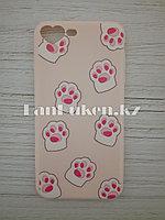 Чехол для смартфона гелевый IPHONE 7P/8P розовый кошачьи лапки
