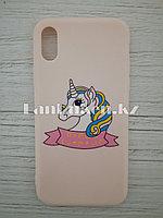 Чехол для смартфона гелевый IPHONE X розовый единорог