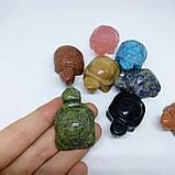 Черепаха из натурального камня, 40х25х20мм., фото 2