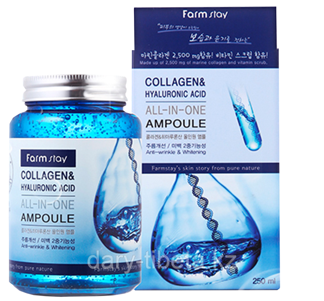 Farm Stay Collagen &Hualuronic Acid ALL-In-One Ampoule-Сыворотка с коллагеном и гиалуроновой кислотой