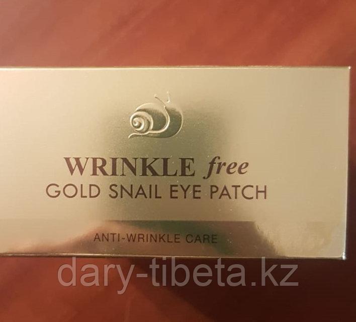 Gold Snail Eye Patch Wrinkle Free-Гидрогелевые патчи для глаз с муцином улитки против морщин (60шт)