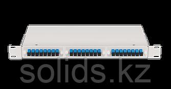 Оптический кросс 1U укомплектованный на 24 порта SC/UPC