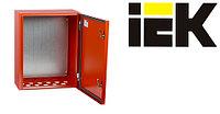 Щиты для пожарной автоматики ЩМП IP54 IEK® в красном цвете