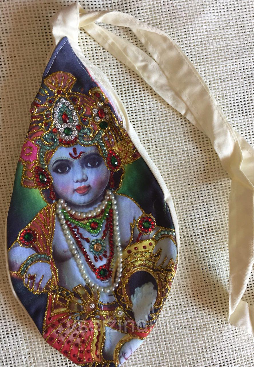 Мешочек для четок ― маленький Кришна.