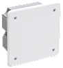 Коробка КМ41001 распаячная для твердых стен 92x92x45 (с саморезами, с крышкой)