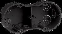 Коробка КМ40007 установочная 2х местная для твердых стен 141x70x45 (с саморезами)