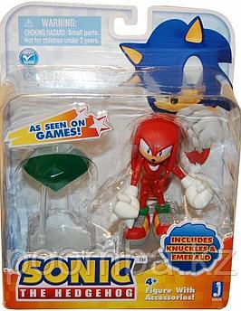 Фигурка Sonic the Hedgehog - Соник Наклз и изумруд, 9 см