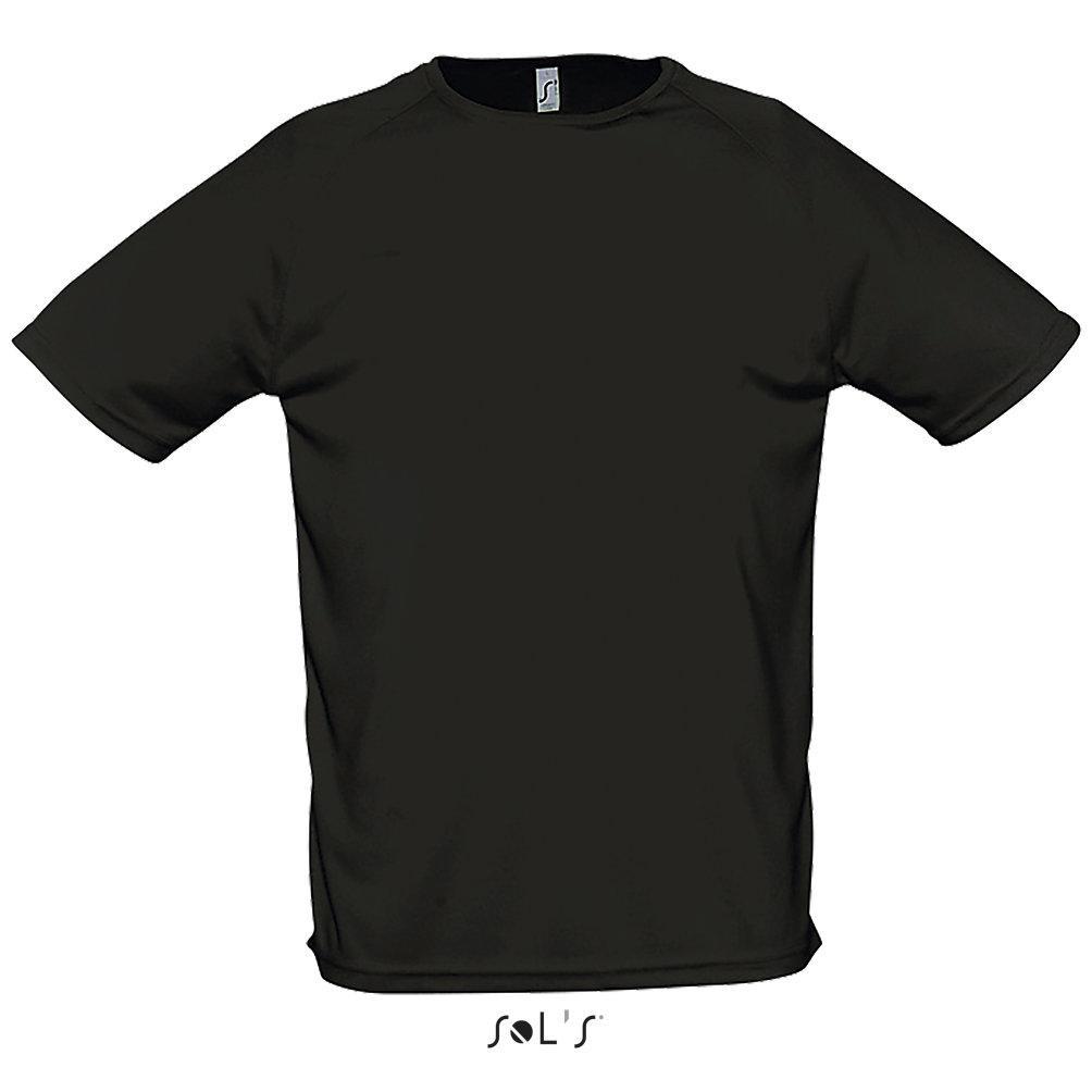 Футболка Dry Fit   Sols Sporty L черный