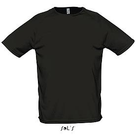 Футболка Dry Fit | Sols Sporty L черный