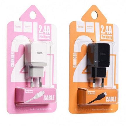 Зарядное устройство Hoco C22 2.4A Micro USB, фото 2