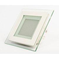 Потолочный светильник квадратный 6W (со стеклом)