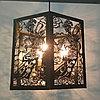 Ажурная люстра на 3 лампочки