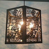 Ажурная люстра на 3 лампочки, фото 1