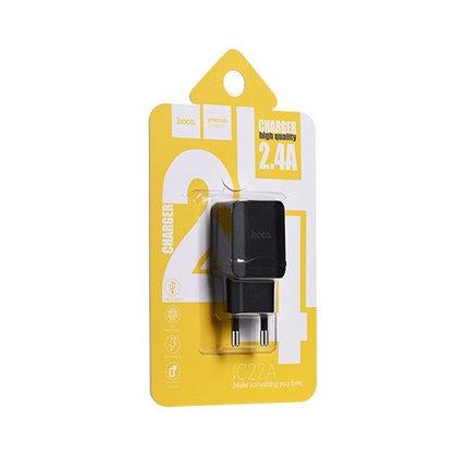 Зарядное устройство Hoco C22 2.4A Black, фото 2